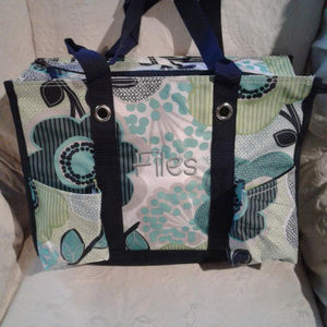 "Thirty-One Utility Tote -Monogramed "" Files """
